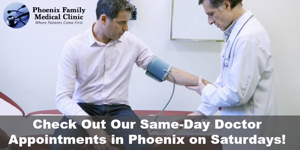 Phoenix Same Day Doctor Appointments Saturdays